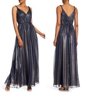 Dress by Vera Wang blue chiffon evening gown